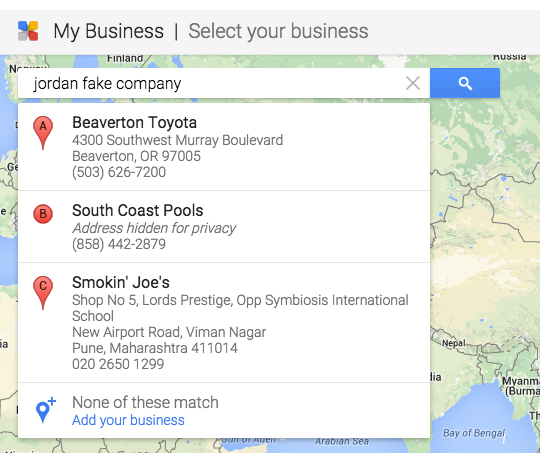 Google My Business Listing Setup