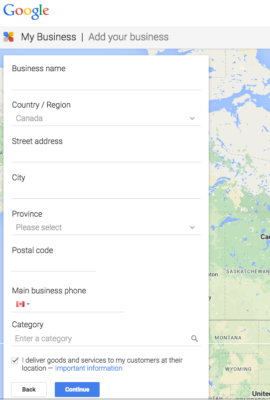 Submit Google My Business Listing
