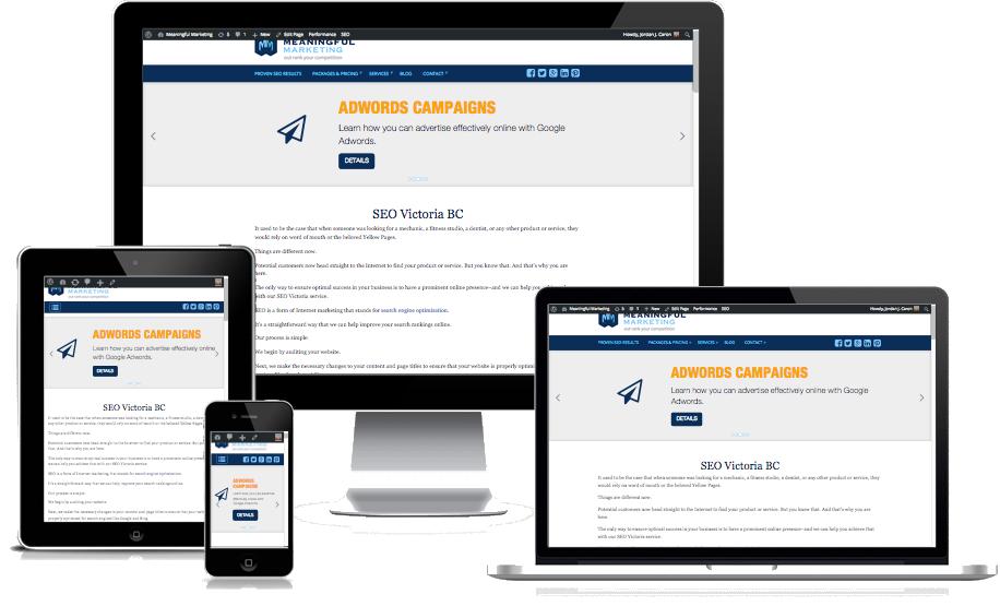 Victoria BC Responsive & Mobile Website Design