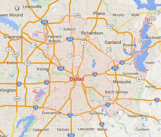 Dallas Google Maps