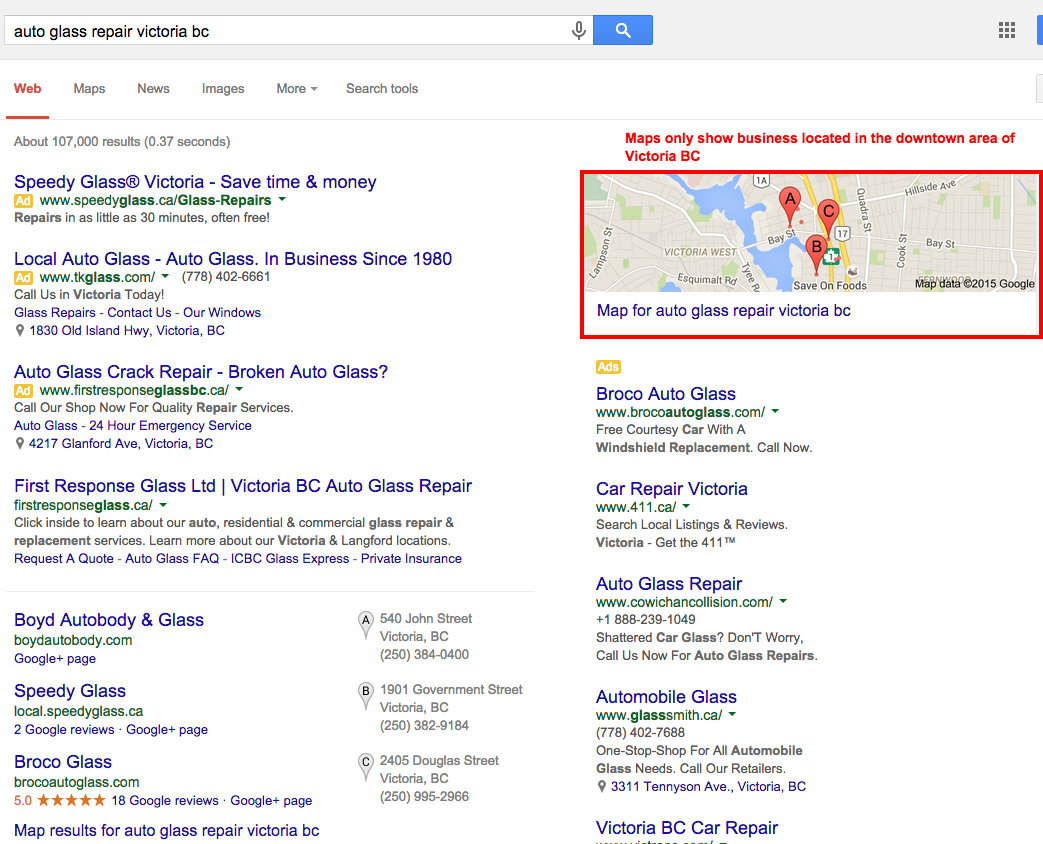 Google My Business Ranking Issues