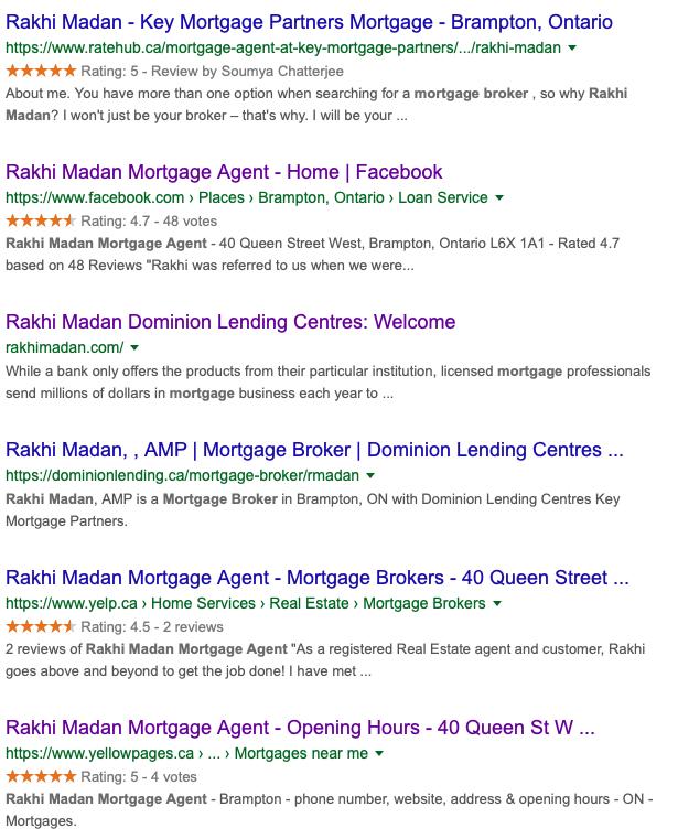 rakhi madan brand seerch results reviews