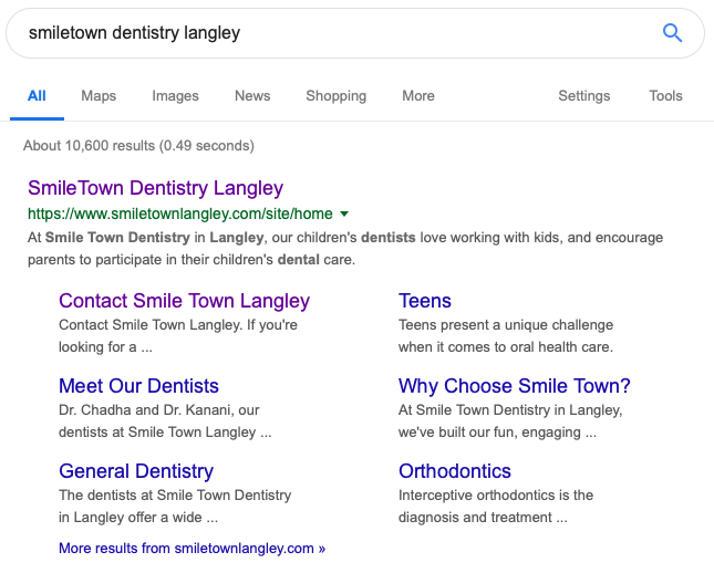 smiletown branded search results