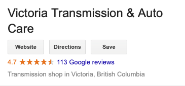 victrans branded search results google reviews